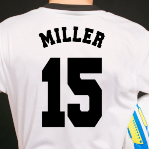 Player Name And Number Iron On Transfers - American