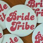 hen party badge bride tribe