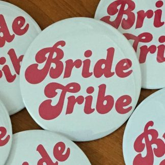 hen party badge bride tribe