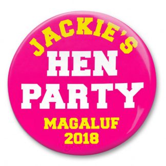 hen party personalised badge