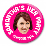 hen party photo badge
