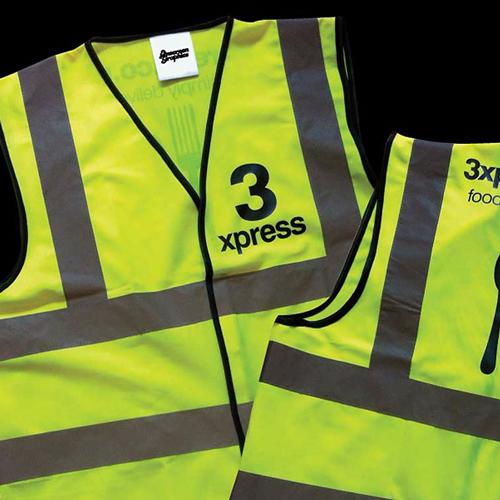 Hi-vis vest printing