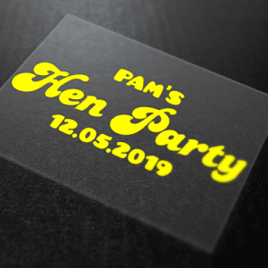 Hen Party Iron-On Transfer 007 3