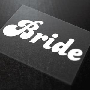 Bride Iron-On Transfer 4