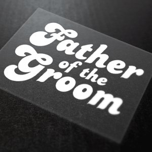 Father Of The Groom Iron-On Transfer 9