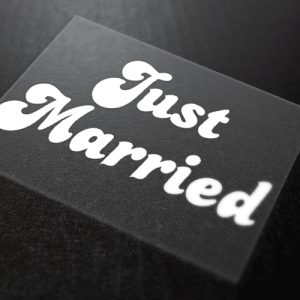 Just Married Iron-On Transfer 12