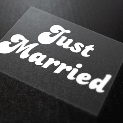 Just Married Iron-On Transfer 1