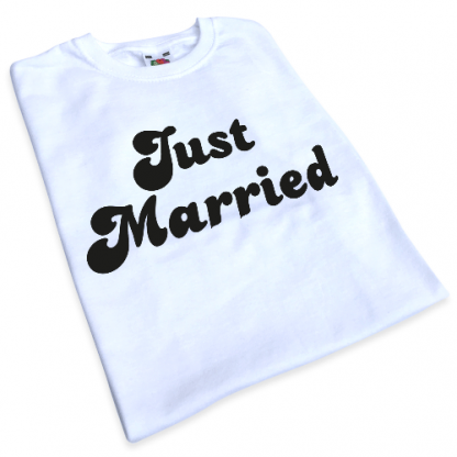 Just Married Iron-On Transfer 2