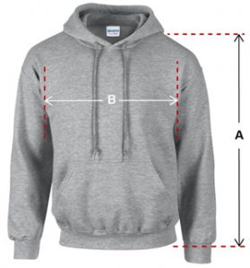 mens hoodies size guide