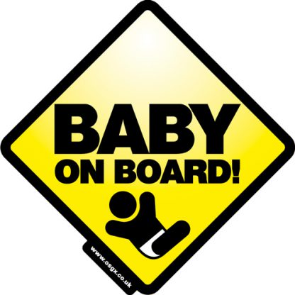 Baby on Board Self Cling Car Safety 1