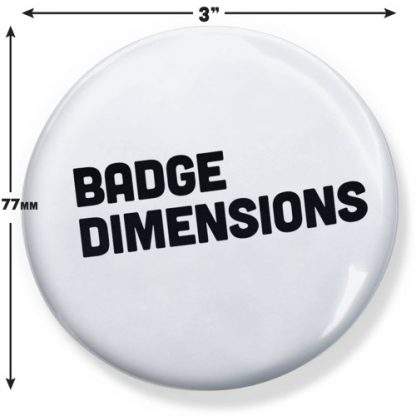 badge dimensions large 77mm