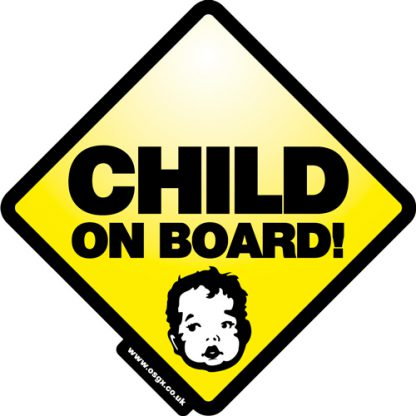 Child on Board Self Cling Car Safety 1