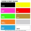 Iron on transfer print colours