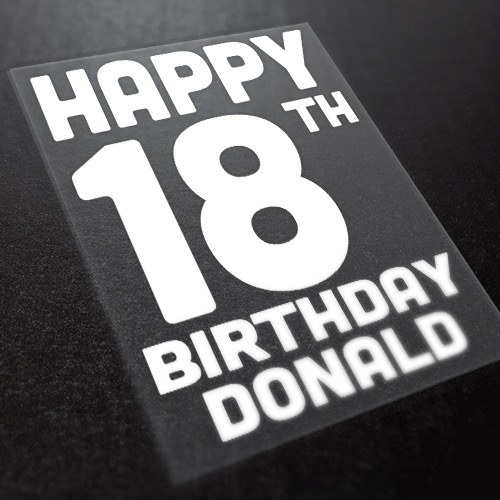 Happy Birthday Iron On Transfer