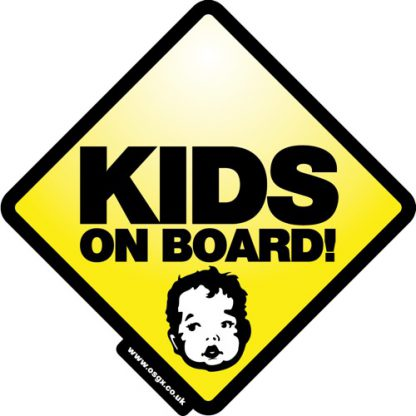 Kids on Board Self Cling Car Safety 1