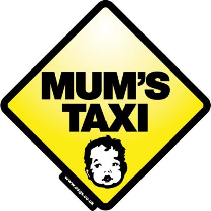 Mum's Taxi Self Cling Car Safety 1