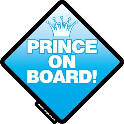 Prince on Board Self Cling Car Safety 1