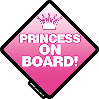 Princess on Board Self Cling Car Safety 1
