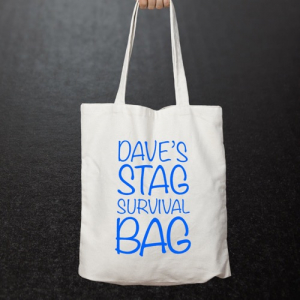 Personalised Stag Party Tote Bag 1