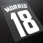 player name and number iron on transfer