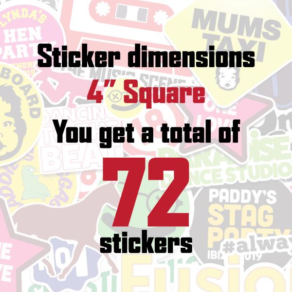 full colour custom printed sticker