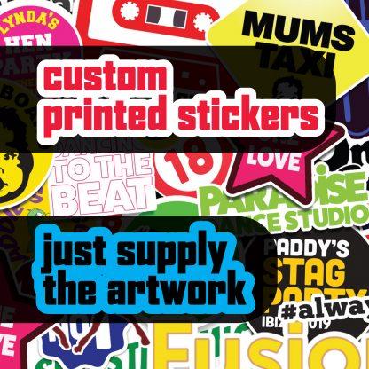 """1"""" Full Colour Vinyl Stickers - Quantity 672 2"""