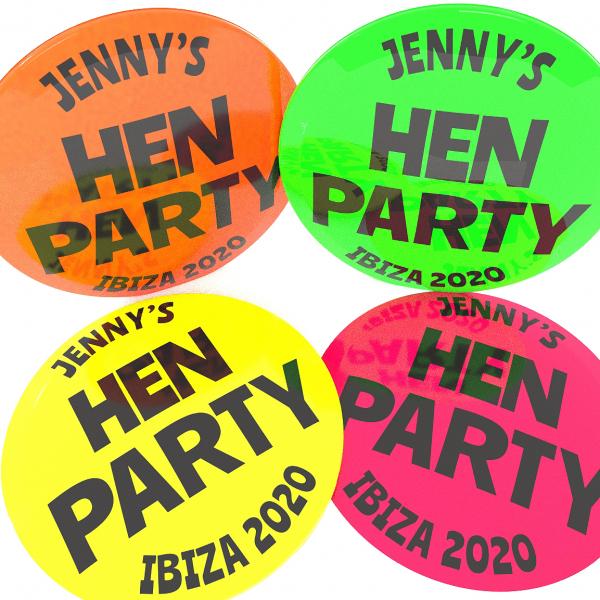 Hen Party Neon Badge