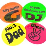 Neon personalised badge