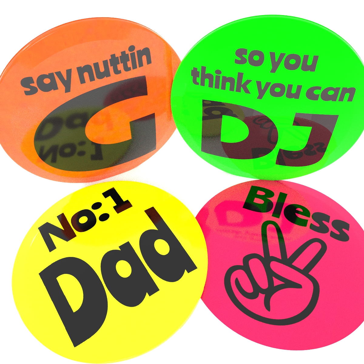 Neon Personalised Badge