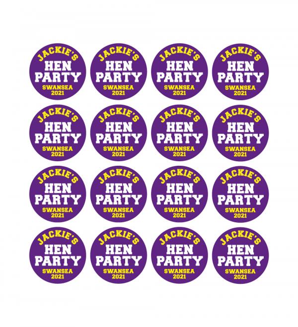 Hen Party Printed Sticker