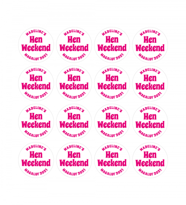 Hen Party Printed Sticker Sheets