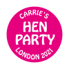 Hen Party Personalised Stickers die cut to various sizes