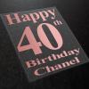 40th birthday tshirt transfers