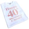 40th birthday iron on transfers