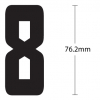iron on numbers for shorts - dimensions