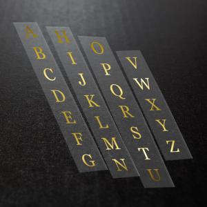 Iron On Metallic Foil Letters