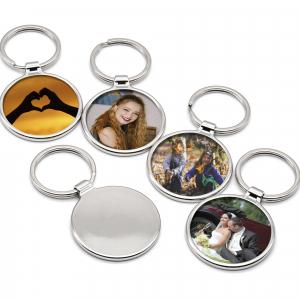 Large Round Keyring Personalised With Your Photo | Photo Gift 1