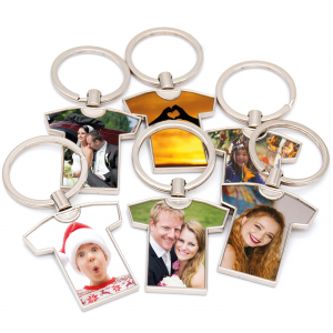 personalised football shirt keyring with photo