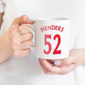 Name And Number Personalised Mug | 002