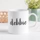 Personalised Mugs Upright Handwriting Font