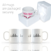 Mugs our packaged securely in polystyrene